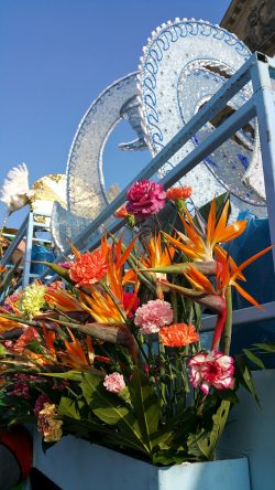 flowers on Karneval float